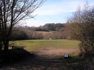 View of open space Highwoods Country Park